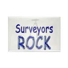 Surveyors Rock Rectangle Magnet