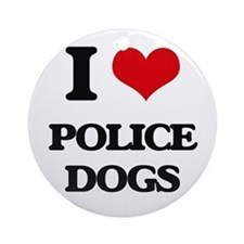 police dogs Ornament (Round)