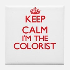 Keep calm I'm the Colorist Tile Coaster