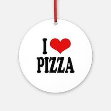 I Love Pizza (word) Ornament (Round)