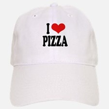I Love Pizza (word) Baseball Baseball Cap