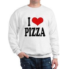 I Love Pizza (word) Sweatshirt