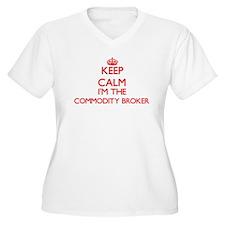 Keep calm I'm the Commodity Brok Plus Size T-Shirt