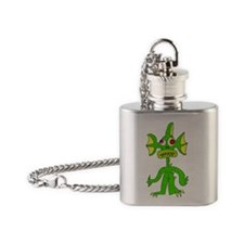 Funny Movie ,creature from the black lagoon Flask Necklace
