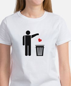 Throw Away Your Valentine's Day Heart T-Shirt
