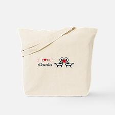 I Love Skunks Tote Bag