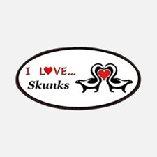 I Love Skunks Patches