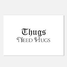 Thugs Need Hugs Postcards (Package of 8)