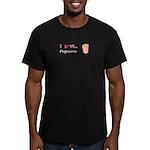 I Love Popcorn Men's Fitted T-Shirt (dark)