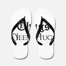 Thugs Need Hugs Flip Flops