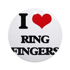 ring fingers Ornament (Round)