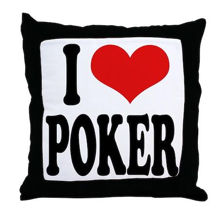 I Love Poker Throw Pillow