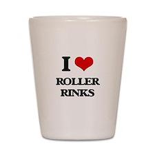 roller rinks Shot Glass