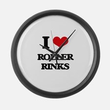 roller rinks Large Wall Clock