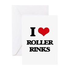 roller rinks Greeting Cards