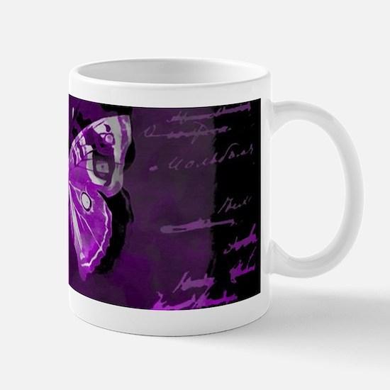 Purple and black butterfly grunge Mugs