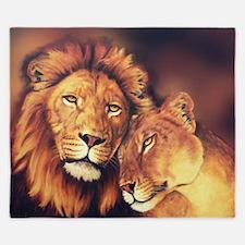 Lions Soulmates King Duvet