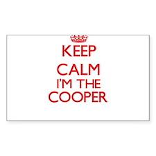 Keep calm I'm the Cooper Decal