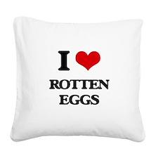 rotten eggs Square Canvas Pillow