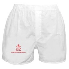 Keep calm I'm the Corporate Librarian Boxer Shorts