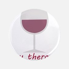 """Wine_My Therapy 3.5"""" Button"""