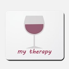 Wine_My Therapy Mousepad