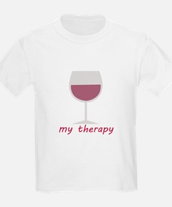 Wine_My Therapy T-Shirt