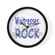 Waitresses Rock Wall Clock