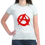 Anarchy-Red Jr. Ringer T-Shirt