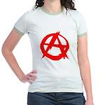 Anarchy-Red Jr. Ringer T-Shirt