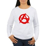 Anarchy-Red Women's Long Sleeve T-Shirt