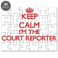 Keep calm I'm the Court Reporter Puzzle