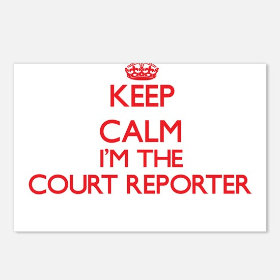 Keep calm I'm the Court R Postcards (Package of 8)