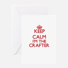 Keep calm I'm the Crafter Greeting Cards