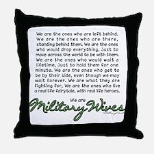 Cute Army wives Throw Pillow