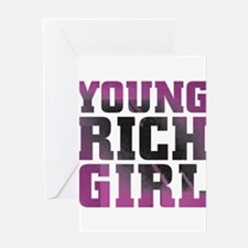 Pink Rich Girl Greeting Cards