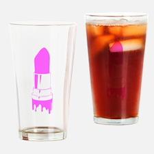 Pink, lipstick Drinking Glass