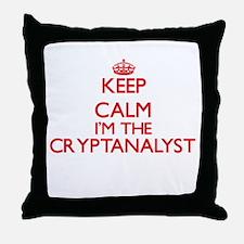 Keep calm I'm the Cryptanalyst Throw Pillow