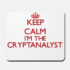 Keep calm I'm the Cryptanalyst Mousepad
