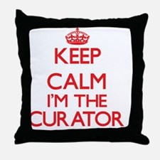 Keep calm I'm the Curator Throw Pillow