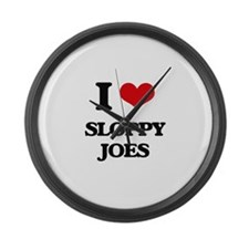 sloppy joes Large Wall Clock