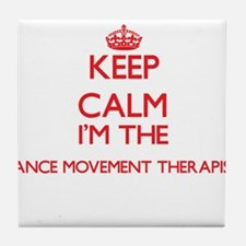 Keep calm I'm the Dance Movement Ther Tile Coaster