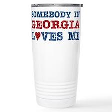 Cute Georgia Travel Mug