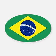 Bandeira do Brasil Oval Car Magnet