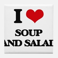 soup and salad Tile Coaster