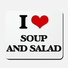 soup and salad Mousepad