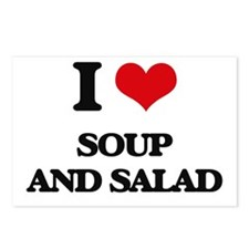 soup and salad Postcards (Package of 8)