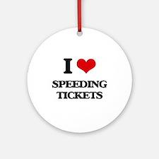 speeding tickets Ornament (Round)