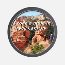 I rode a mule in Bryce Canyon, Utah, US Wall Clock