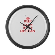 Keep calm I'm the Dietitian Large Wall Clock
